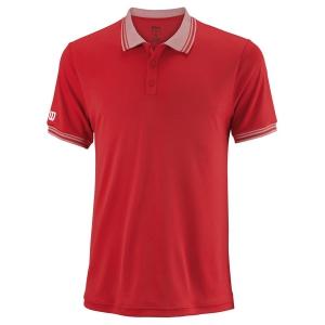 Men's Tennis Polo Wilson Team Polo  Red WRA765405
