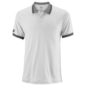 Men's Tennis Polo Wilson Team Polo  White WRA765401