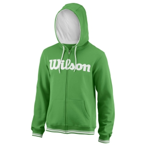 Men's Tennis Shirts and Hoodies Wilson Team Script Full Zip Hoodie  Toucan/White WRA765902