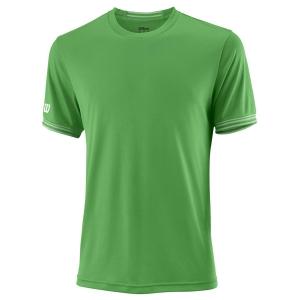 Men's Tennis Shirts Wilson Team Solid Crew TShirt  Toucan/White WRA765303