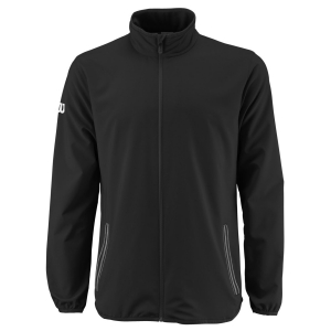 Men's Tennis Jackets Wilson Team Woven Jacket  Black/White WRA765601