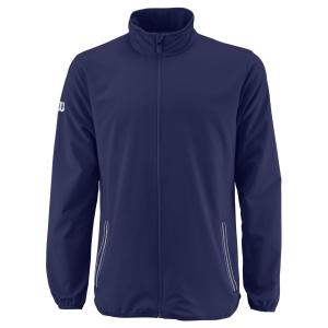 Giacche da Tennis Uomo Wilson Team Woven Giacca  Blue Depths/White WRA765603