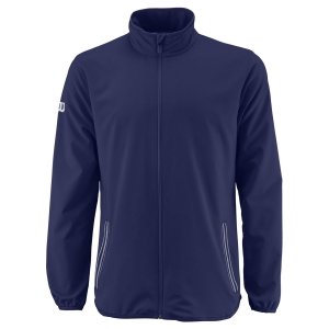 Men's Tennis Jackets Wilson Team Woven Jacket  Blue Depths/White WRA765603