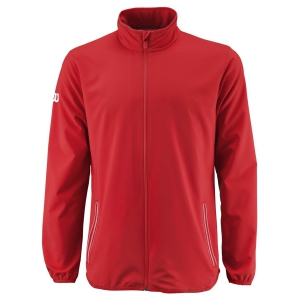 Giacche da Tennis Uomo Wilson Team Woven Giacca  Red/White WRA765604