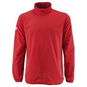 Men's Tennis Jackets Wilson Team Woven Jacket  Red/White WRA765604