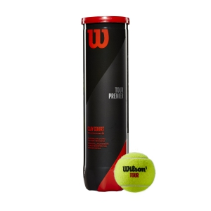 Wilson Tennis Balls Wilson Tour Premier Clay Court  4 Ball Can WRT119600