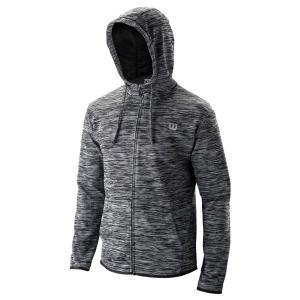 Men's Tennis Jackets Wilson Training Hooded Jacket  Black WRA774301