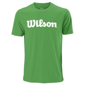 Men's Tennis Shirts Wilson UWII Script Tech TShirt  Toucan/White WRA770307