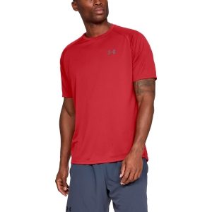 Men's Tennis Shirts Under Armour Tech TShirt  Dark Red 13264130600