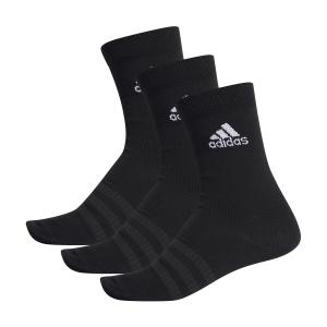 Tennis Socks Adidas Lightweight Crew x 3 Socks  Black DZ9394
