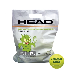 Head Tennis Balls Head T.I.P Green  72 Balls Pack 578280