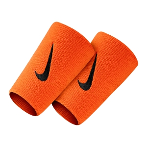 Tennis Head and Wristbands Nike Premier DoubleWide Wristbands  Total Orange/Gridiron N.000.2466.880.OS