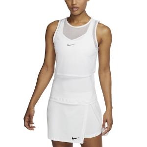 Women`s Tennis Tanks Nike DriFIT Mesh Tank  White/Black CI9320100