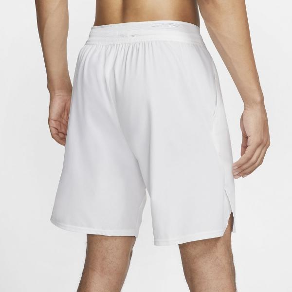 Nike Flex Ace 9in Shorts - White/Black