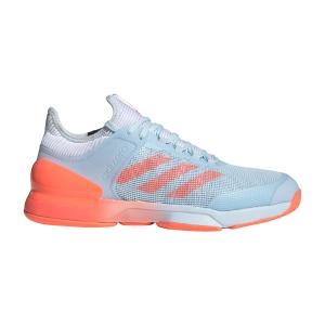 Men`s Tennis Shoes Adidas Adizero Ubersonic 2  Sky Tint/Signal Coral/Ftwr White FW3533