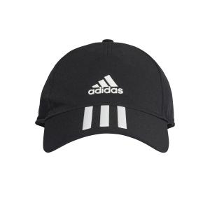 Tennis Hats and Visors Adidas AEROREADY 3 Stripes Cap  Black/White FK0882