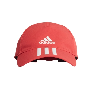 Tennis Hats and Visors Adidas Aeroready 3 Stripes Cap  Glory Red/White FL9608