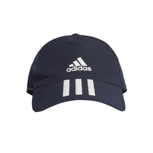 Tennis Hats and Visors Adidas Aeroready 3 Stripes Cap  Legend Ink/White FK0883