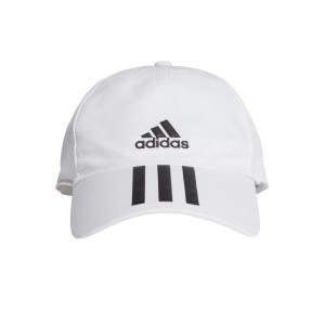 Gorras de Tenis Adidas Aeroready 3 Stripes Gorras  White/Black FK0880