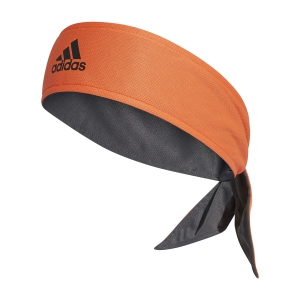 Tennis Head and Wristbands Adidas Aeroready Tieband  True Orange/Grey Six/Black FK0920
