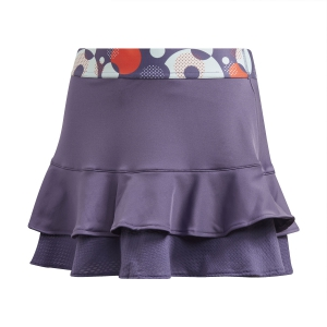 Shorts and Skirts Girl Adidas Frill Skirt Girl  Tech Purple/Shock Yellow FK7139