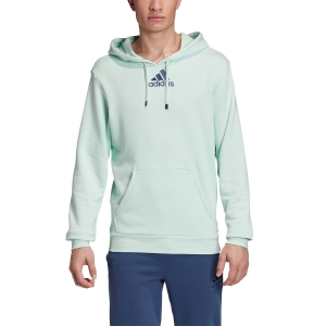 Men's Tennis Shirts and Hoodies Adidas Category Graphic Hoodie  Dash Green/Tech Indigo FM1192