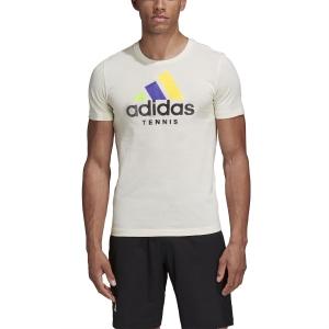 Men's Tennis Shirts Adidas Category LTD TShirt  Cream White FI8187