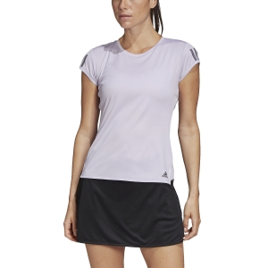 Camisetas y Polos de Tenis Mujer Adidas Club 3 Stripes Camiseta  Purple Tint/Grey Six FK6973