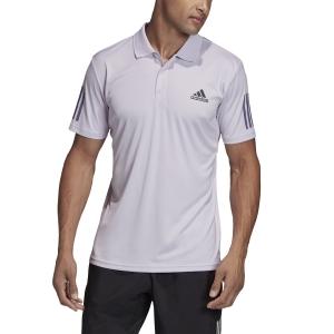 Men's Tennis Polo Adidas Club 3 Stripes Polo  Purple Tint/Grey Six FK6966