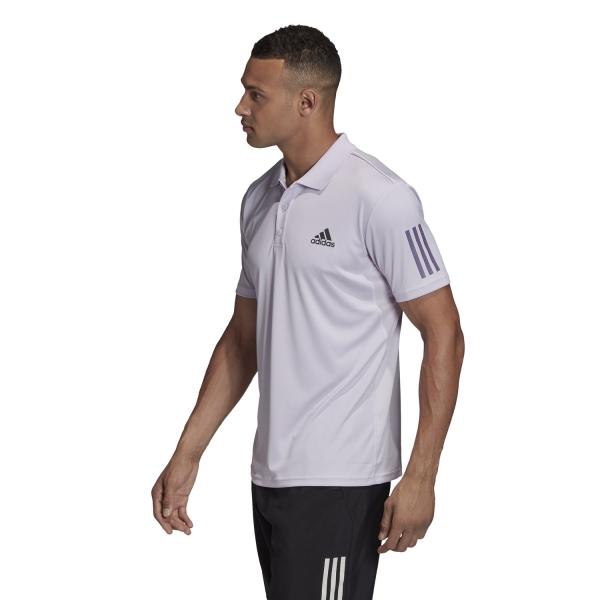 Adidas Club 3 Stripes Polo - Purple Tint/Grey Six