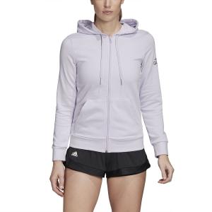 Women's Tennis Shirts and Hoodies Adidas Club Hoodie  Purple Tint/Tech Purple FK6994