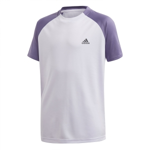 Tennis Polo and Shirts Adidas Club TShirt Boy  Purple Tint/Tech Purple FK7155