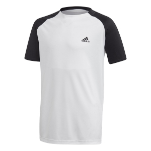 Tennis Polo and Shirts Adidas Club TShirt Boy  White/Black FK7154