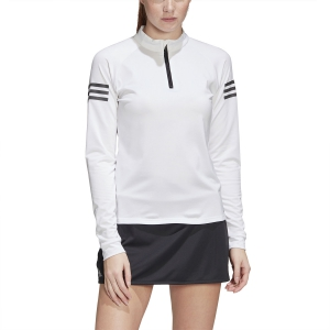 Maglie e Felpe Tennis Donna Adidas Club Midlayer Maglia  White/Matte Silver/Black FM2547