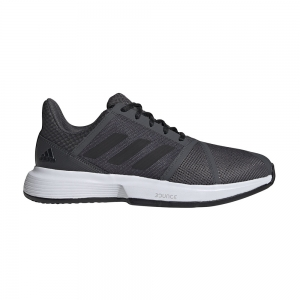 Men`s Tennis Shoes Adidas CourtJam Bounce Clay  Grey Six/Core Black/Ftwr White FV2764