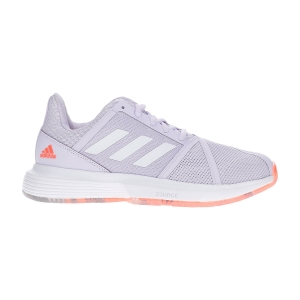 Women`s Tennis Shoes Adidas CourtJam Bounce  Signal Coral/Purple Tint/Tech Purple EF2764