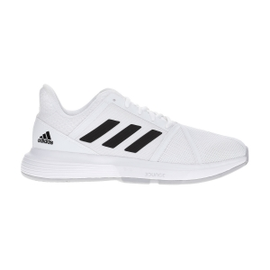 Men`s Tennis Shoes Adidas CourtJam Bounce  Ftwr White/Core Black/Matte Silver EF2480