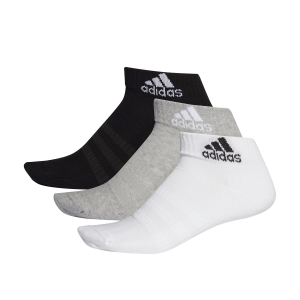 Calze Tennis Adidas Cushioned Ankle x 3 Calze  Medium Grey Heather/White/Black DZ9364