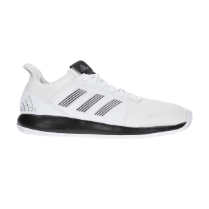 Men`s Tennis Shoes Adidas Adizero Defiant Bounce 2 Clay  Ftwr White/Core Black EF2436