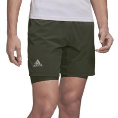 Adidas Ergo 2 in 1 7in Shorts - Legend Earth/Grey Two
