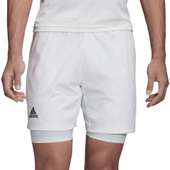 Adidas Ergo 2 in 1 7in Shorts - White/Tech Purple
