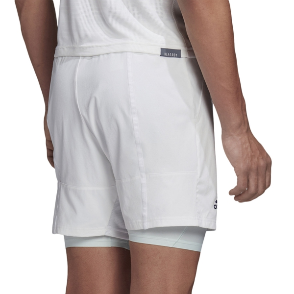 Adidas Ergo 2 in 1 7in Shorts - White/Tech Purple