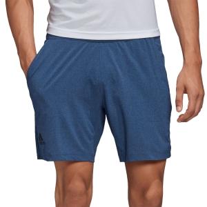Pantalones Cortos Tenis Hombre Adidas Ergo Melange 7.5in Shorts  Tech Indigo FK0796