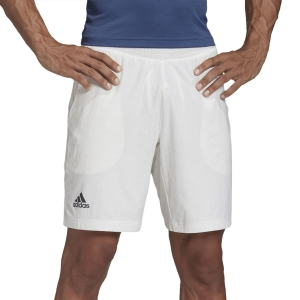 Pantalones Cortos Tenis Hombre Adidas Ergo Solid 7.5in Shorts  White FK0793