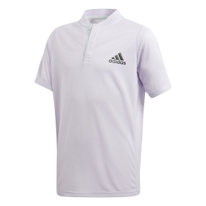 Tennis Polo and Shirts Adidas Freelift Polo Boy Purple Tint/Legend Earth FK7142