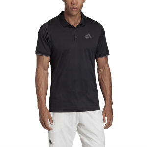 Men's Tennis Polo Adidas Gameset Freelift Polo  Black FP7960