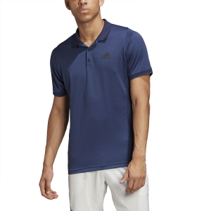 Men's Tennis Polo Adidas Gameset Freelift Polo  Tech Indigo FP7963