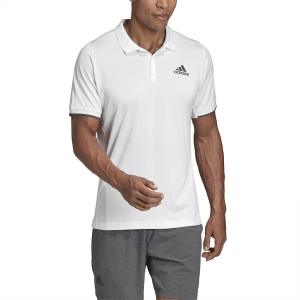 Men's Tennis Polo Adidas Gameset Freelift Polo  White FP7961