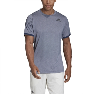 Men's Tennis Shirts Adidas Gameset Freelift TShirt  Tech Indigo Mel FP7970
