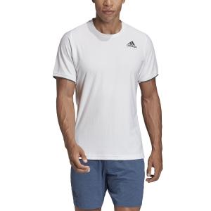 Men's Tennis Shirts Adidas Gameset Freelift TShirt  White FP7969